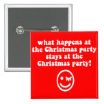 Funny Christmas party 2 Inch Square Button