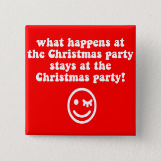 Funny Christmas party Button