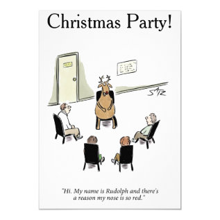 Funny Christmas Party Card at Zazzle