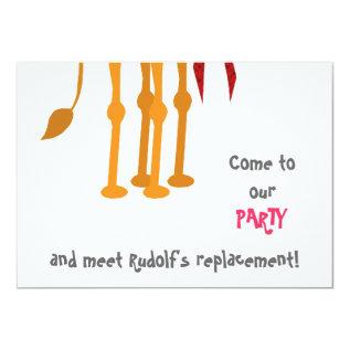 Funny Christmas Party Invitation Card (camel) at Zazzle