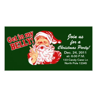 Funny Christmas Party Invitations Photo Card