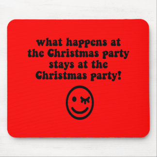 Funny Christmas party Mouse Pad