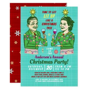 Adult Christmas Invitations Zazzle
