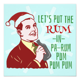 Funny Christmas Party Retro Rum Adult Holiday Card