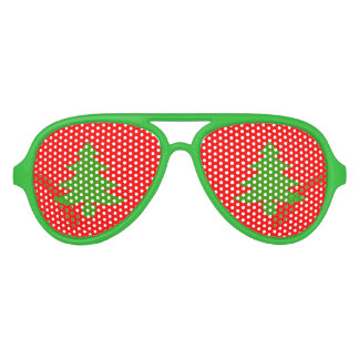 Funny Christmas party shades with xmas trees