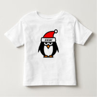 Funny Christmas penguin cartoon | Kids t shirts