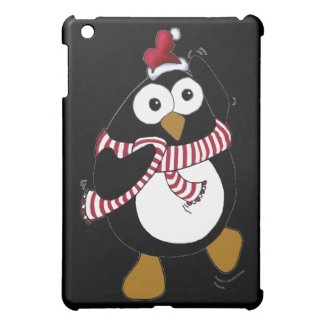Funny Christmas penguin dancing in the Antarctic. iPad Mini Case