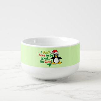 Funny Christmas Penguin I'm cute! Soup Mug