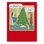 Funny Christmas postcard: Dim Bulb