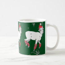 Funny Christmas Prancing Dall Sheep Ram Cup