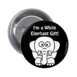 Funny Christmas Present: Real White Elephant Gift! 2 Inch Round Button