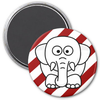 Funny Christmas Present: Real White Elephant Gift! 3 Inch Round Magnet