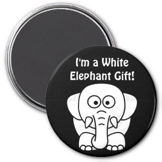 Funny Christmas Present: Real White Elephant Gift! Magnet