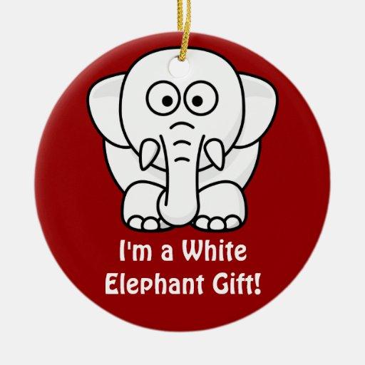 Funny Christmas Present: Real White Elephant Gift! Christmas Ornaments ...