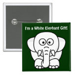 Funny Christmas Present: Real White Elephant Gift! Pinback Button