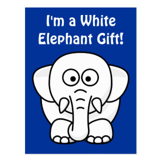 Funny Christmas Present: Real White Elephant Gift! Postcard