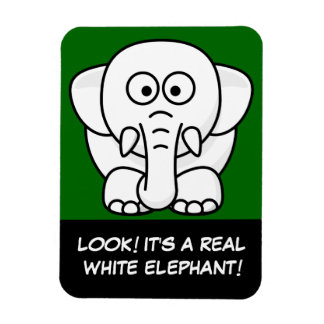 Funny Christmas Present: Real White Elephant Gift! Rectangular Photo Magnet