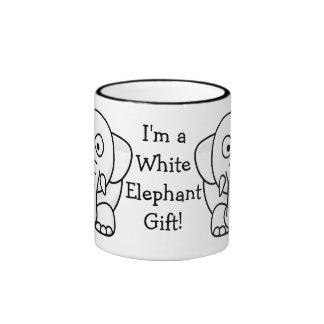 Funny Christmas Present: Real White Elephant Gift! Ringer Mug