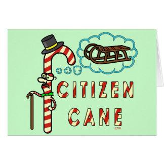 Funny Christmas Pun Citizen Cane Cards
