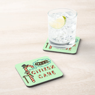 Funny Christmas Pun Citizen Cane Drink Coaster
