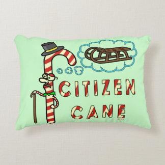 Funny Christmas Pun Citizen Cane Accent Pillow