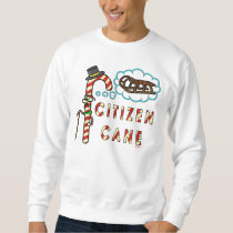 Funny Christmas Pun Citizen Cane Ugly Holiday Sweatshirt