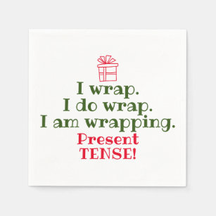 Cute Christmas Puns.Funny Christmas Pun Cute Holiday Grammar Napkin