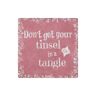 Funny Christmas Quote Stone Magnet