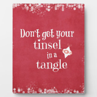 Funny Christmas Quote Plaque