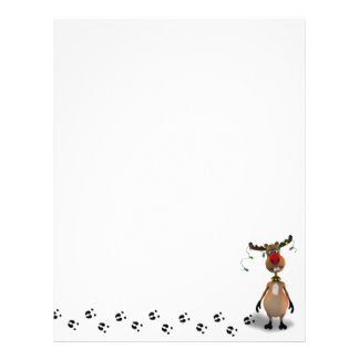 Funny Christmas Red Nosed Reindeer - Letterhead