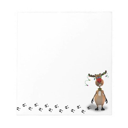 Funny Christmas Red Nosed Reindeer - Notepad