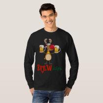 Funny Christmas Reindeer Beer Drunk Brew Dolph T-Shirt