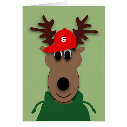 Funny christmas reindeer card zazzle for Funny reindeer christmas cards