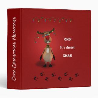 Funny Christmas Reindeer Christmas Memories Binder