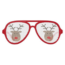 Funny Christmas reindeer party shades sunglasses