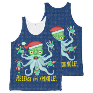 Funny Christmas Release the Kringle Santa Claus All-Over-Print Tank Top