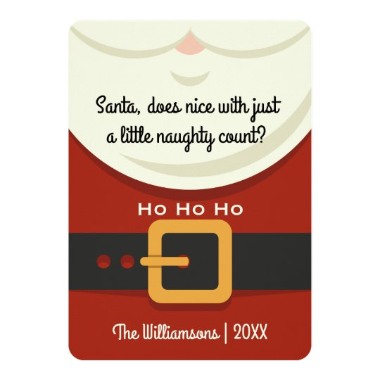 Funny Christmas Santa Claus Naughty & Nice Photo Card