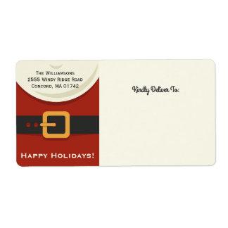 Funny Christmas Santa Claus Suit Your Address Label