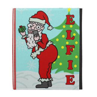 Funny Christmas Santa Elfie iPad Cases
