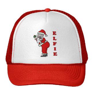 Funny Christmas Santa Elfie Trucker Hat