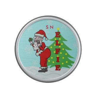 Funny Christmas Santa Elfie Monogram Speaker