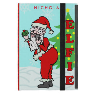 Funny Christmas Santa Elfie Personalized Case For iPad Mini