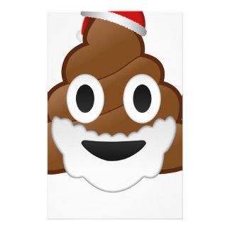Funny Christmas Santa Poop Emoji Stationery