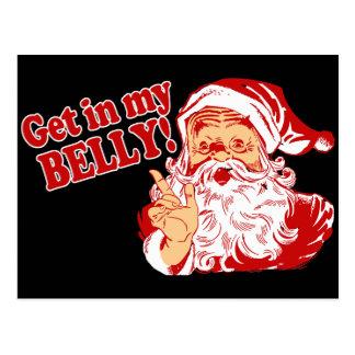 Funny Christmas Santa Postcard