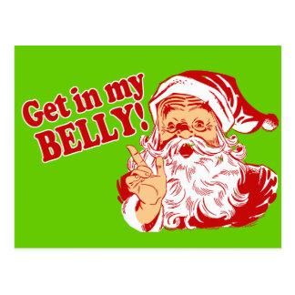 Funny Christmas Santa Postcards