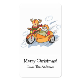Funny Christmas Santa s sleigh upgraded Business Card Template