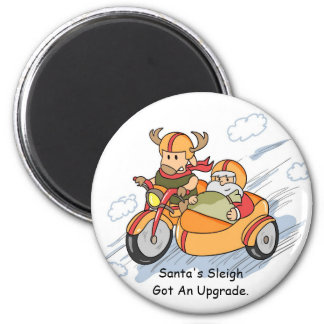 Funny Christmas Santa Sleigh Upgraded Magnet