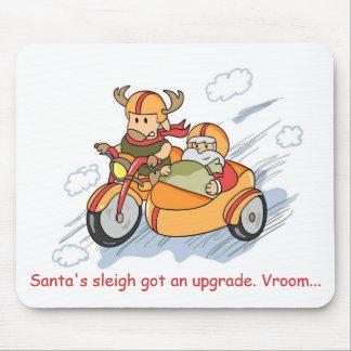 Funny Christmas Santa sleigh upgraded Mousepad