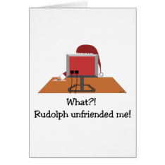 Funny Christmas - Santa Unfriended By Rudolph Card at Zazzle