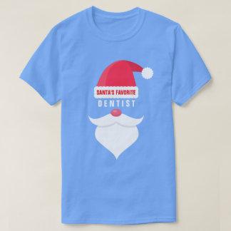Funny Christmas Santa's Favorite Dentist Custom T-Shirt